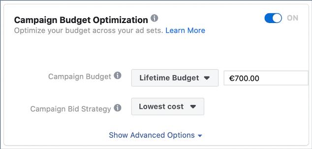PS Digital sk Nastavenie rozpoctu FB kampane