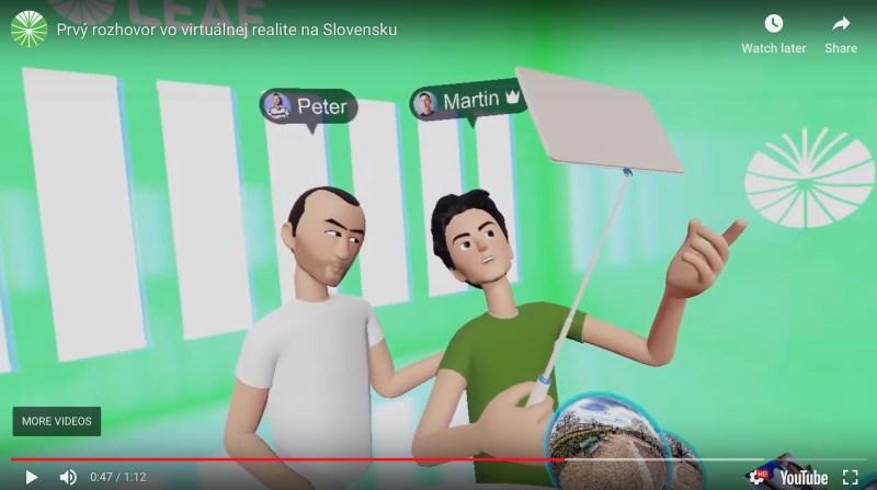 Rozhovor vo virtualnej realite